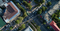 Бишкекте ШКУ саммитинен улам пайда болгон жол тыгыны. Архивдик сүрөт
