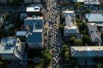 Автомобильный затор на улице Токтогула во время ШОС в Бишкеке. Архивное фото