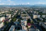 Вид с высоты на Бишкек. Архивное фото