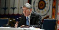 Алмазбек Атамбаев Ысык-Көл облусуна болгон иш сапары учурунда.