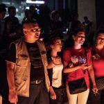 Участники акции пели песни военных лет