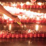 Были использованы 1 418 свечей — именно столько дней длилась Великая Отечественная война