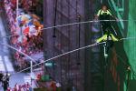 Гиннес китебине кирген рекордчу, америкалык дарчы Ник Валленда Нью-Йорктогу Таймс-сквер аянтындагы 25 кабаттуу үйлөрдүн ортосуна тартылган аркандан басып өттү