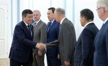 Глава Кыргызстана Сооронбай Жээнбеков встретился с секретарями советов безопасности государств — членов Организации Договора о коллективной безопасности (ОДКБ)