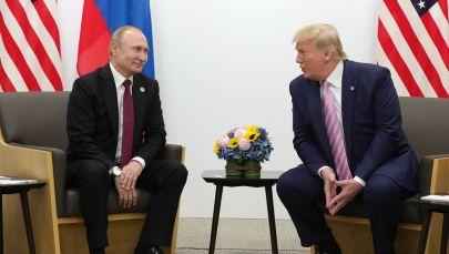 Россиянын президенти Владимир Путин жана АКШнын мурдагы президенти Дональд Трамп. Архив