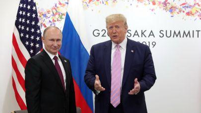Россиянын президенти Владимир Путин жана АКШ өлкө башчысы Дональд Трамп. Архив