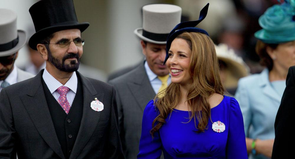Принцесса Хайя бинт аль-Хусейн и премьер-министр ОАЭ, правитель Дубая шейх Мохаммед бен Рашид Аль Мактум в Королевском Аскоте в Аскоте, Англия, среда, 20 июня 2012 года