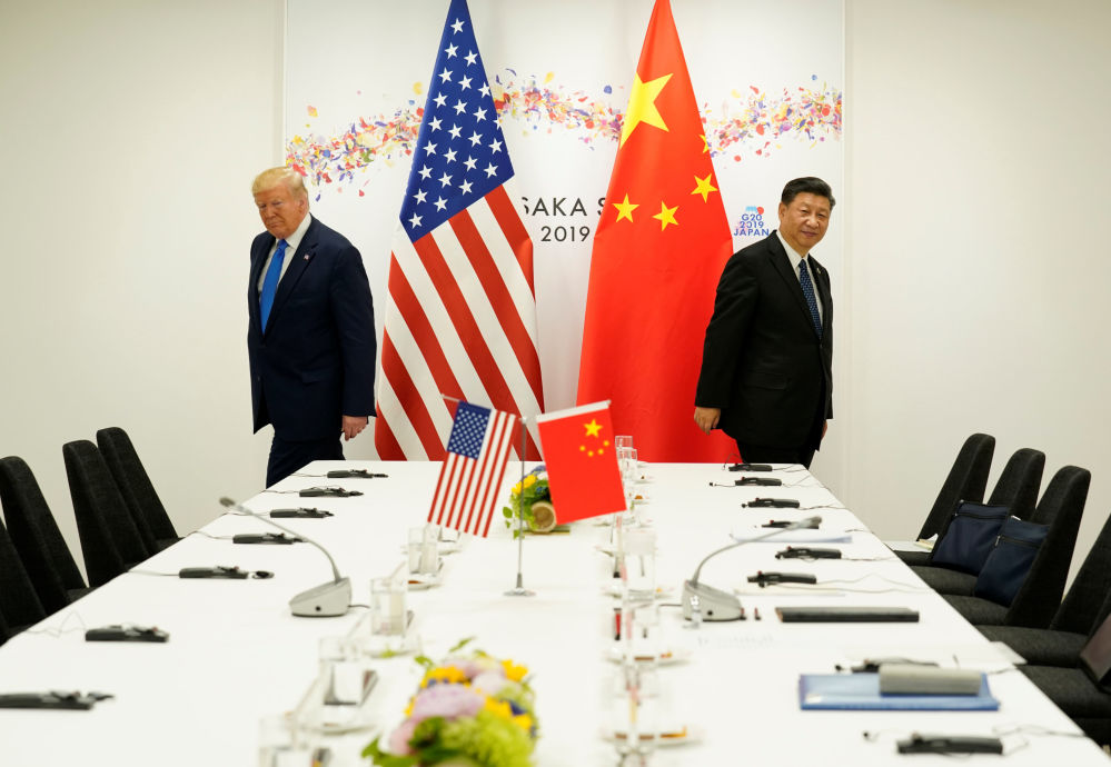 Дональд Трамп и Си Цзиньпин на встрече в Осаке