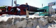 Мексиканын Гвадалахара шаары калың кардын алдында калды