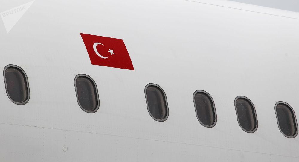Самолет турецкой авиакомпании в аэропорту. Архивное фото