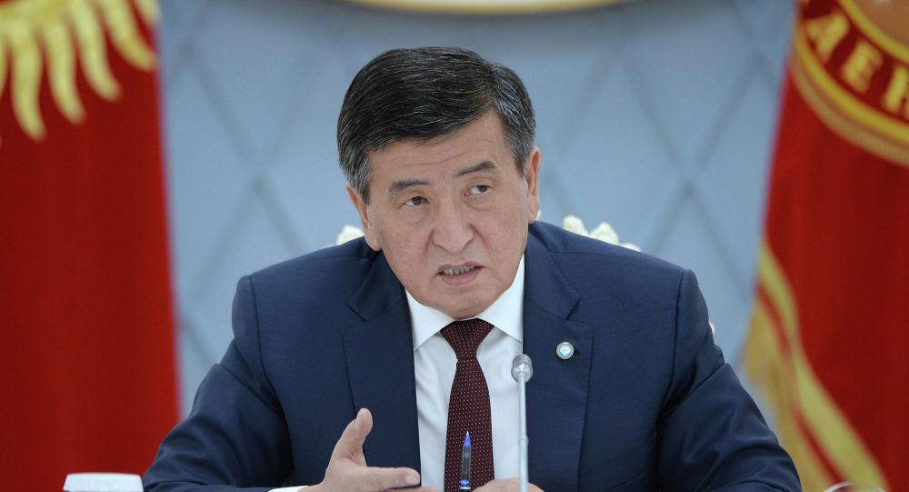 Президент КР Сооронбай Жээнбеков на совещании по вопросам судебно-правовой реформы в стране