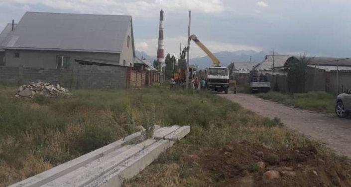 Управление капитального строительства продолжает работы по обеспечению электроснабжением жилого массива Ак-Ордо