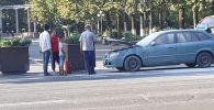 Пожар в машине на пересечении проспектов Чуй и Эркиндик