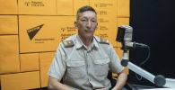 ӨКМдин Бишкек шаардык башкармалыгынын куткаруу кызматынын башчысы Мелис Назарбеков. Архивдик сүрөт
