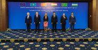 В государственной резиденции Ала-Арча в Бишкеке проходит встреча верховного представителя Европейского союза по иностранным делам и политике безопасностиФредерики Могерини с министрами иностранных дел стран Центральной Азии