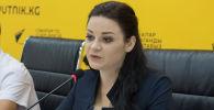 Бишкек шаарынын социалдык маселелер боюнча вице-мэри Виктория Мозгачева. Архив