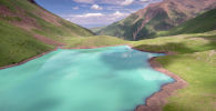 Вид на озеро Кол-Тор в Чуйской области. Архивное фото