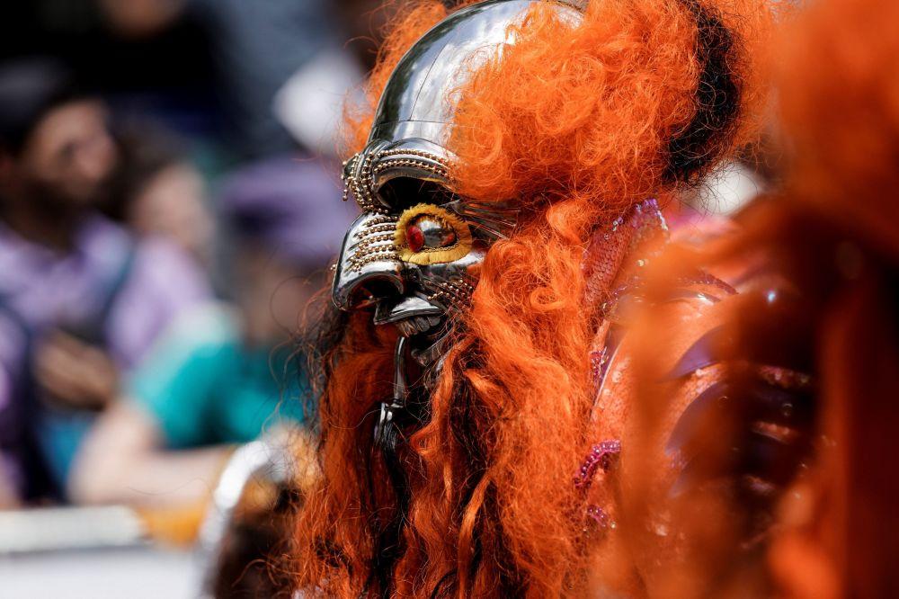 Участники Тропического карнавала в Париже