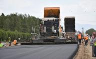 Ход строительства автодороги. Архивное фото