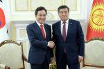 Президент Кыргызской Республики Сооронбай Жээнбеков встретился с премьер-министром Республики Корея Ли Нак Еном, прибывшим в Кыргызстан с официальным визитом. 18 июля 2019 года