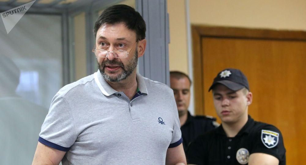 Руководитель портала РИА Новости Украина Кирилл Вышинский на заседании суда