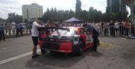 На месте наезда на людей на чемпионате по дрифту в Бишкеке
