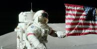 Флаг США на Луне. Программа Аполлон 17