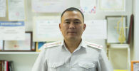 Бишкек шаардык жол кыйымылы коопсуздугун камсыздоо башкармалыгынын батальон командиринин орун басары Жээнбек Большевиков