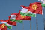 Кыргызстандын жана Тажикстандын желектери. Архив