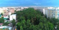 Мэрия Бишкека предоставила аэросъемку разных частей города.