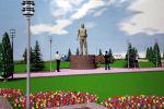 Эскиз площади имени Турдакуна Усубалиева в центре Нарына