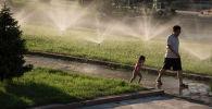 Палящее солнце или как спасаются бишкекчане от жары