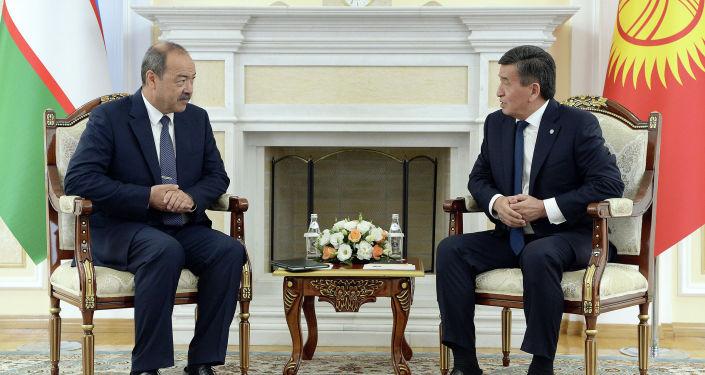 Президент Кыргызской Республики Сооронбай Жээнбеков принял премьер-министра Республики Узбекистан Абдуллу Арипова, прибывшего в Кыргызстан с рабочим визитом. 1 августа 2019 года