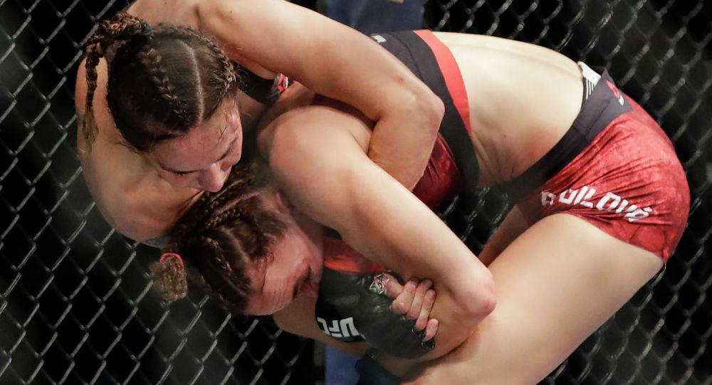 Кыргызстандык спортчу Антонина Шевченко UFC уюмундагы кезектеги беттешке чыгып, атаандашы чехиялык Люси Пудилованы утуп алды.