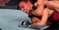 На официальном Youtube-канале UFC Russia опубликовано полное видео боя кыргызстанки Антонины Шевченко против чешского бойца Луси Пудиловой.