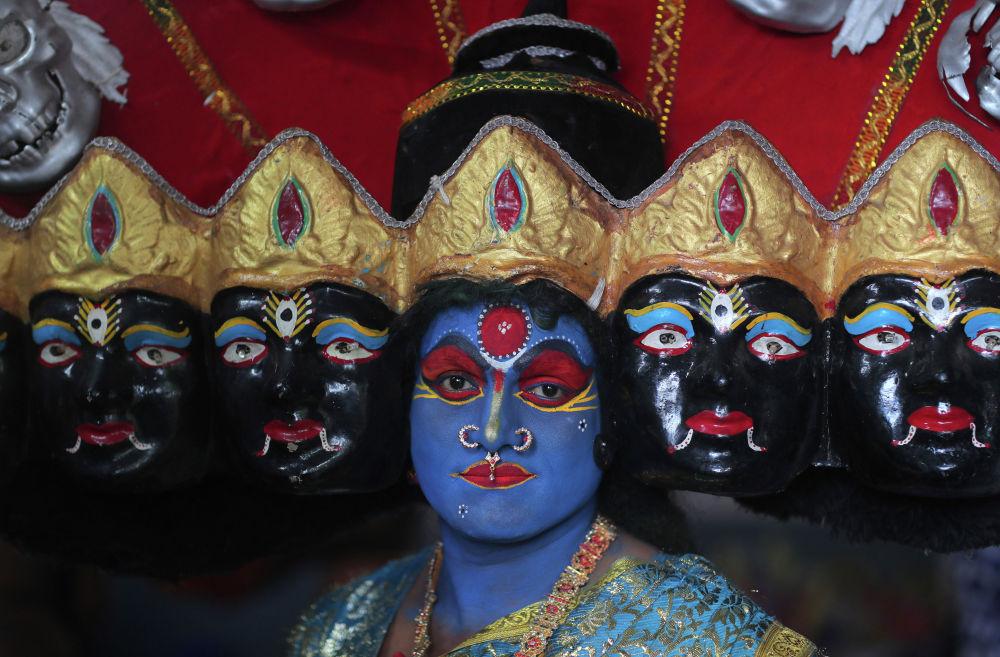 Индуистский фестиваль Боналу в Хайдарабаде (Индия)