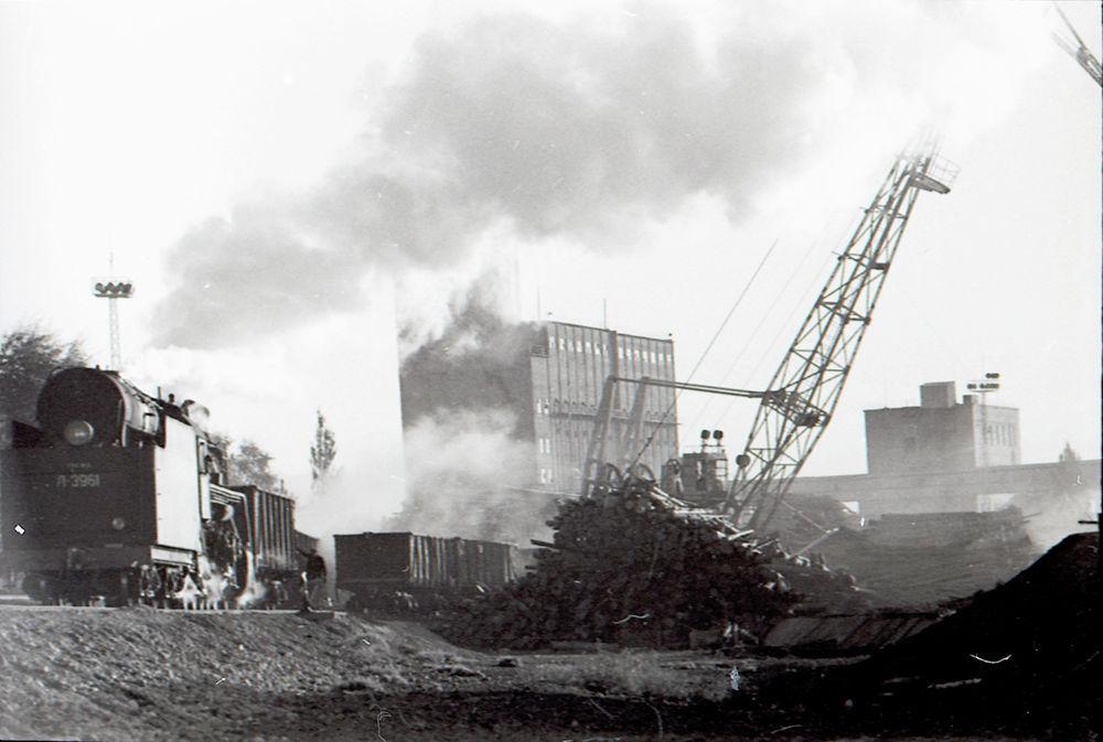 Балыкчыдагы товардык станциянын жалпы көрүнүшү. 1963-жыл