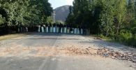 Милицейский кордон у въезда в село Кой-Таш