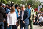 Бывший президент КР Алмазбек Атамбаев и его советник Кундуз Жолдубаева