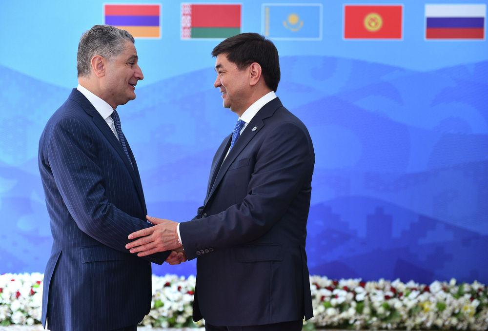 Кроме премьер-министров, в заседании участвовал председатель коллегии Евразийской экономической комиссии Тигран Саркисян