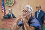 Американский финансист Джеффри Эпштейн во время слушания по его делу в зале суда в Нью-Йорке, США, 31 июля 2019 года