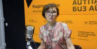 Милдеттүү медициналык камсыздандыруу фондунун программаларын ишке ашыруу башкармалыгынын башчысы Жыпара Азизбекова. Архив