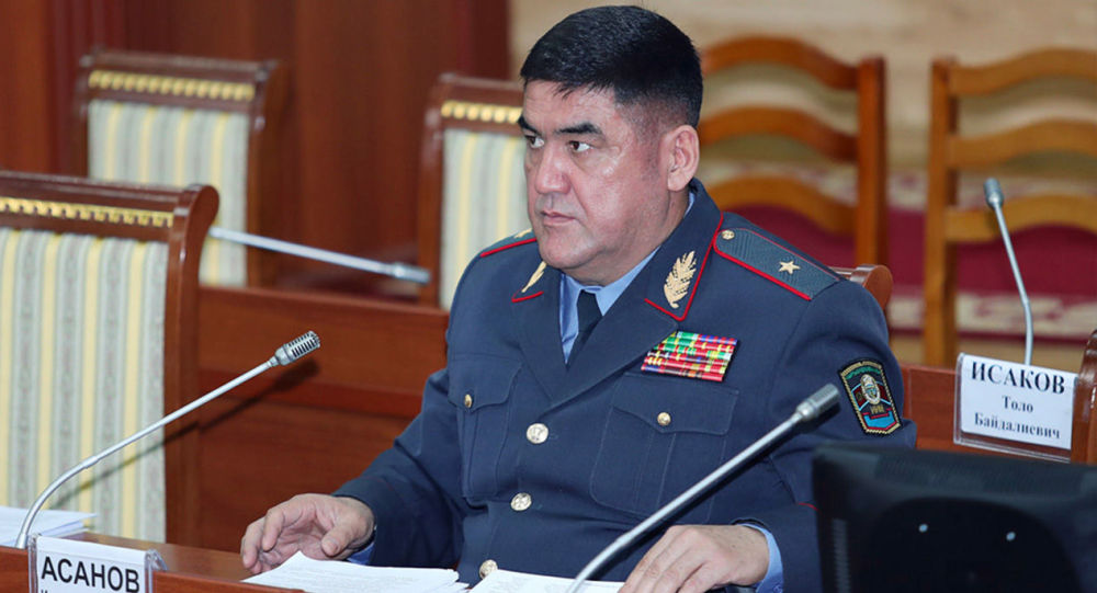 ИИМ министрдин орун басары Курсан Асанов. Архивдик сүрөт