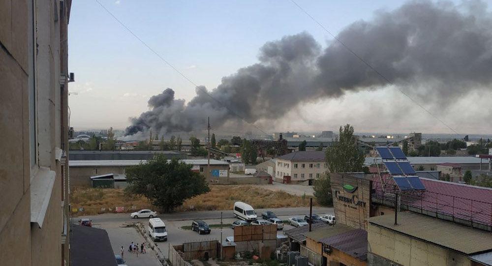 Пожар в восточной части Бишкека