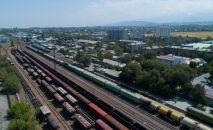 Бишкектеги темир жол станциясы. Архивдик сүрөт