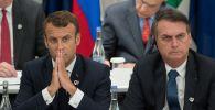 Бразилия менен Франциянын президенттери Жаир Болсонару жана Эммануэль Макрон. Архивдик сүрөт
