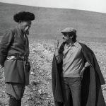 Народный артист СССР Муратбек Рыскулов и режиссер Геннадий Базаров на съемках фильма Улица. 1972 год