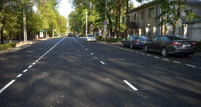 В ночь на 30 августа полностью были завершены дорожно-ремонтные работы на отрезке улицы Московской в Бишкеке