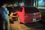 Автомобиль Mitsubishi Outlander сам завелся и ударил припаркованную Honda Avancier на пересечении улицы Киевской и проспекта Эркиндик.