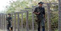 Пограничники Таджикистана на посту. Архивное фото